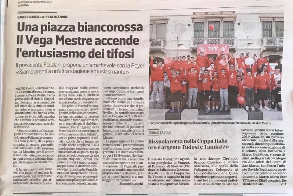 La Nuova Venezia, Domenica 22 Settembre 2019